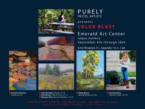 Postcard Announcement for Color Blast Pastel Exhibit